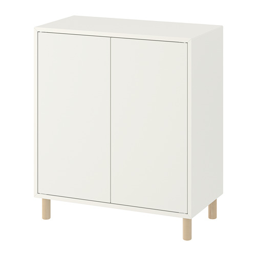 EKET - 貯物組合連櫃腳, 白色/木 | IKEA 香港及澳門 - PE784665_S4