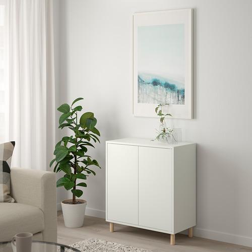 EKET - 貯物組合連櫃腳, 白色/木 | IKEA 香港及澳門 - PE784666_S4