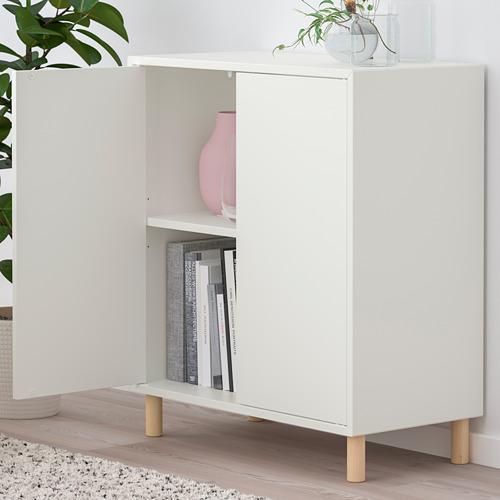 EKET - 貯物組合連櫃腳, 白色/木 | IKEA 香港及澳門 - PE784667_S4