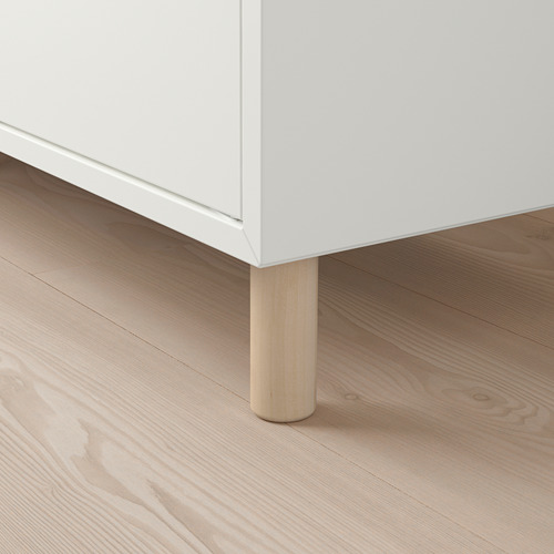 EKET - 貯物組合連櫃腳, 白色/木 | IKEA 香港及澳門 - PE784664_S4