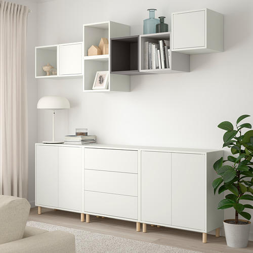 EKET - cabinet combination with legs, white/light grey/dark grey | IKEA Hong Kong and Macau - PE784673_S4