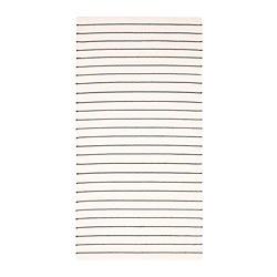 TÖRSLEV - rug, flatwoven, stripe white/black | IKEA Hong Kong and Macau - PE687246_S3