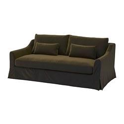 FÄRLÖV - 3-seat sofa, Djuparp dark olive-green | IKEA Hong Kong and Macau - PE784704_S3