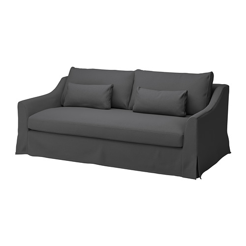 FÄRLÖV - cover for 3-seat sofa, Flodafors grey | IKEA Hong Kong and Macau - PE784706_S4
