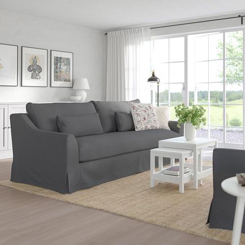 FÄRLÖV - 3-seat sofa, Flodafors grey | IKEA Hong Kong and Macau - PE784705_S4