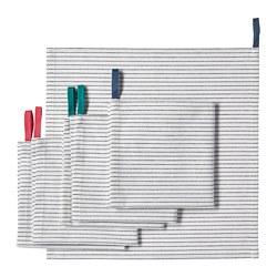 GRUPPERA - 餐巾, 白色/黑色 | IKEA 香港及澳門 - PE730485_S3
