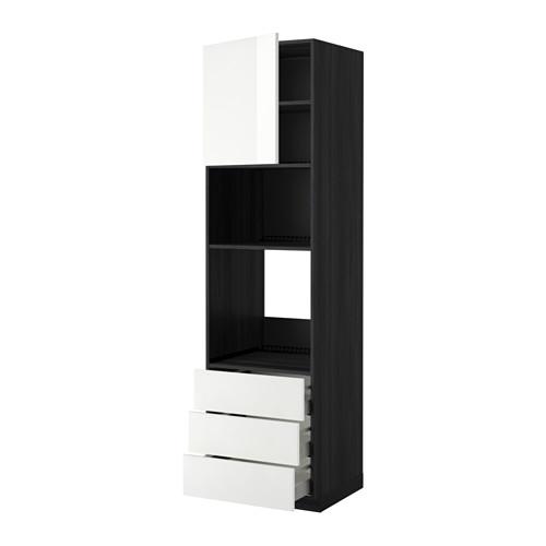 METOD - 微波爐/焗爐用高櫃連抽屜櫃門組合, 黑色 Maximera/Ringhult 白色 | IKEA 香港及澳門 - PE368705_S4