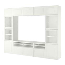 BESTÅ - 電視貯物組合/玻璃門, 白色 Smeviken/Ostvik 白色/透明玻璃 | IKEA 香港及澳門 - PE784799_S3