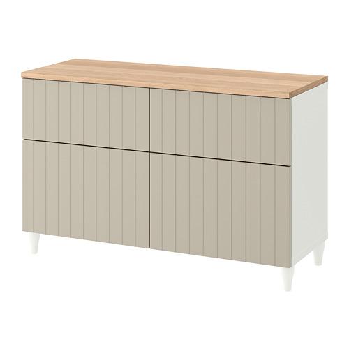BESTÅ - 貯物組合連門/抽屜, 白色/Sutterviken/Kabbarp 灰米黃色 | IKEA 香港及澳門 - PE784809_S4