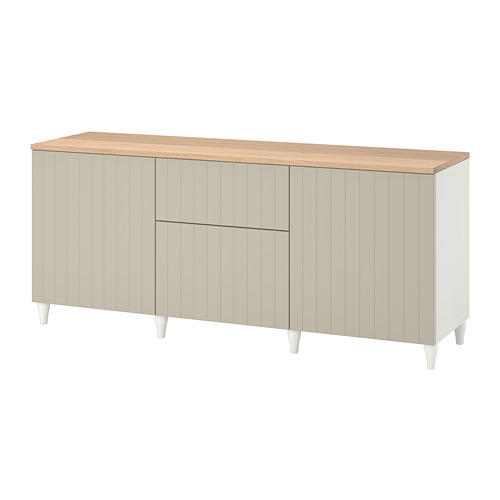 BESTÅ - 貯物組合連抽屜, 白色/Sutterviken/Kabbarp 灰米黃色 | IKEA 香港及澳門 - PE784819_S4