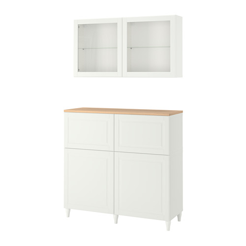BESTÅ - storage combination w doors/drawers, white Smeviken/Ostvik/Kabbarp white clear glass | IKEA Hong Kong and Macau - PE784821_S4