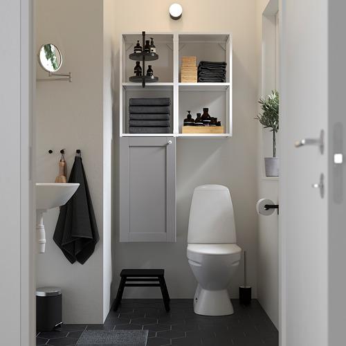 ENHET - 上牆式貯物架組合, white/grey frame | IKEA 香港及澳門 - PE784829_S4