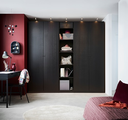 PAX - wardrobe, black-brown/Forsand black-brown stained ash effect   IKEA Hong Kong and Macau - PH153481_S4