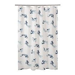 VATTENSJÖN - shower curtain, white blue/fish | IKEA Hong Kong and Macau - PE784858_S3