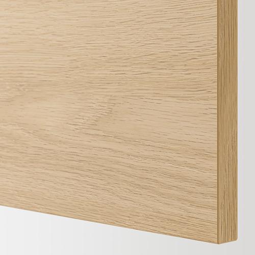 ENHET - 地櫃連層板/門, 白色/橡木紋 | IKEA 香港及澳門 - PE784877_S4