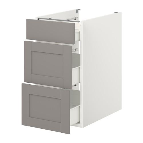 ENHET - 地櫃連3格抽屜, 白色/灰色 框架 | IKEA 香港及澳門 - PE773147_S4