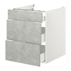 ENHET - base cb w 3 drawers, white/concrete effect | IKEA Hong Kong and Macau - PE773152_S3