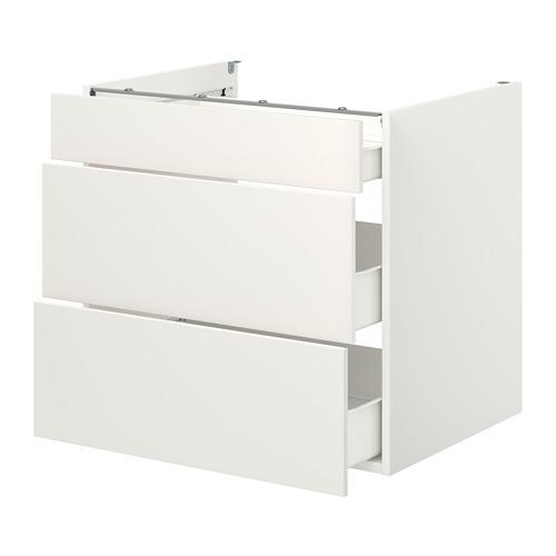 ENHET - 地櫃連3格抽屜, 白色 | IKEA 香港及澳門 - PE773155_S4