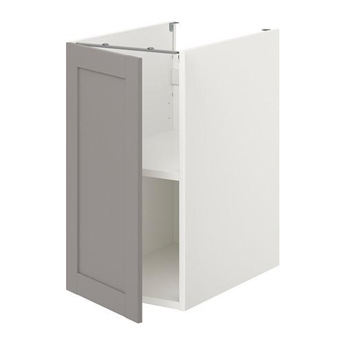 ENHET - 地櫃連層板/門, 白色/灰色 框架 | IKEA 香港及澳門 - PE773162_S4
