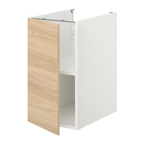 ENHET - 地櫃連層板/門, 白色/橡木紋   IKEA 香港及澳門 - PE773211_S4