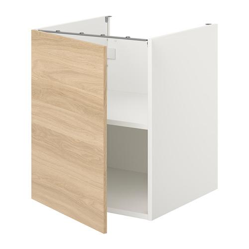 ENHET - 地櫃連層板/門, 白色/橡木紋   IKEA 香港及澳門 - PE773169_S4