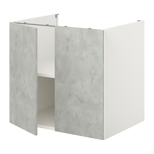 ENHET - 地櫃連層板/門, 白色/仿混凝土 | IKEA 香港及澳門 - PE773357_S4