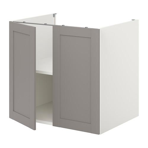 ENHET - 地櫃連層板/門, 白色/灰色 框架 | IKEA 香港及澳門 - PE773171_S4