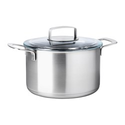IKEA 365+ - pot with lid 5L, stainless steel/glass | IKEA Hong Kong and Macau - PE513831_S3