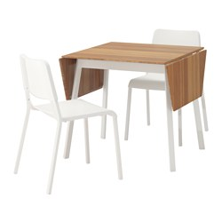 IKEA PS 2012/TEODORES - table and 2 chairs, bamboo white/white | IKEA Hong Kong and Macau - PE640165_S3