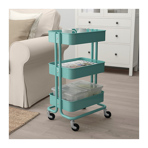 RÅSKOG - trolley, turquoise | IKEA Hong Kong and Macau - PE687696_S4