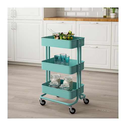 RÅSKOG - trolley, turquoise | IKEA Hong Kong and Macau - PE687697_S4