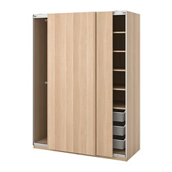 PAX - wardrobe, Hasvik/white stained oak effect, 150x66x201.2cm | IKEA Hong Kong and Macau - PE730668_S3