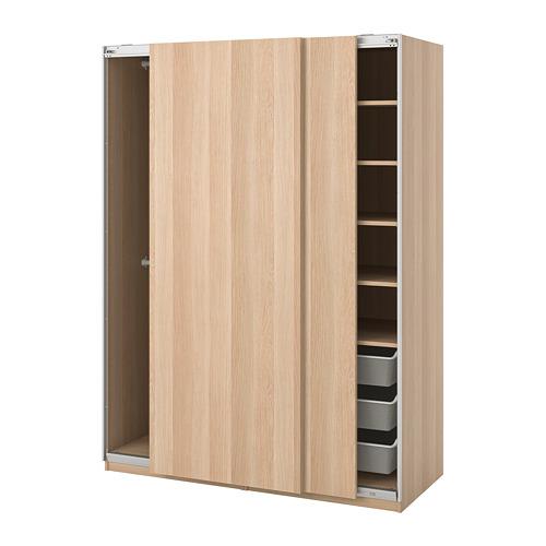 PAX - 衣櫃, Hasvik/染白橡木紋, 150x66x201.2cm | IKEA 香港及澳門 - PE730668_S4