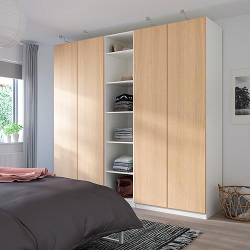 PAX - 衣櫃, 白色/Repvåg 染白橡木飾面   IKEA 香港及澳門 - PE730688_S4