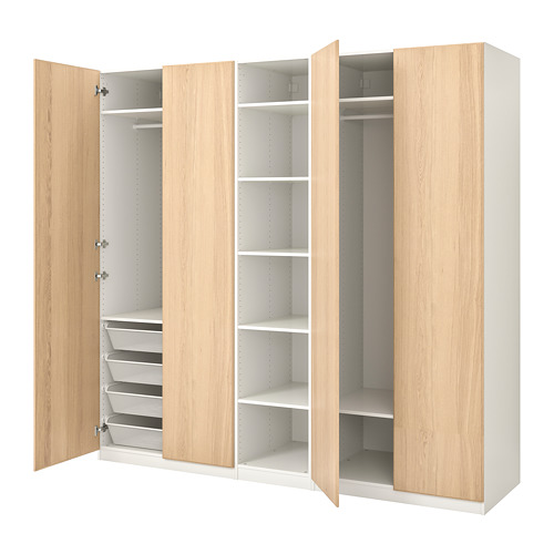 PAX - 衣櫃, 白色/Repvåg 染白橡木飾面   IKEA 香港及澳門 - PE730691_S4