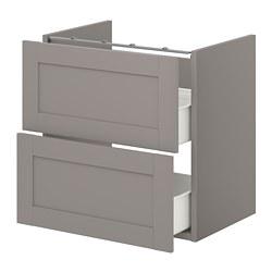 ENHET - 洗手盆用地櫃連2個抽屜, grey/grey frame | IKEA 香港及澳門 - PE773248_S3