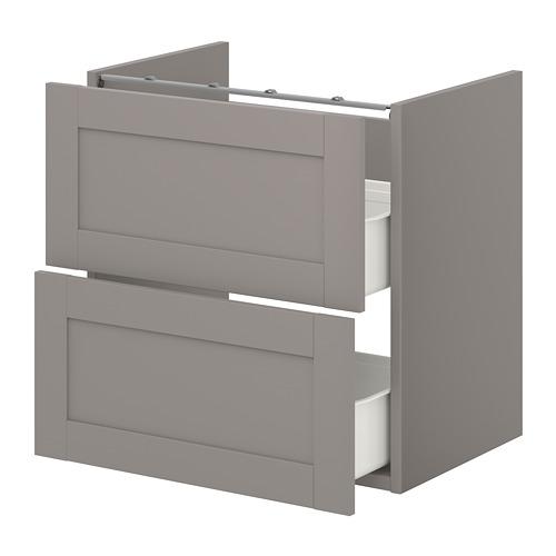ENHET - 洗手盆用地櫃連2個抽屜, grey/grey frame   IKEA 香港及澳門 - PE773248_S4