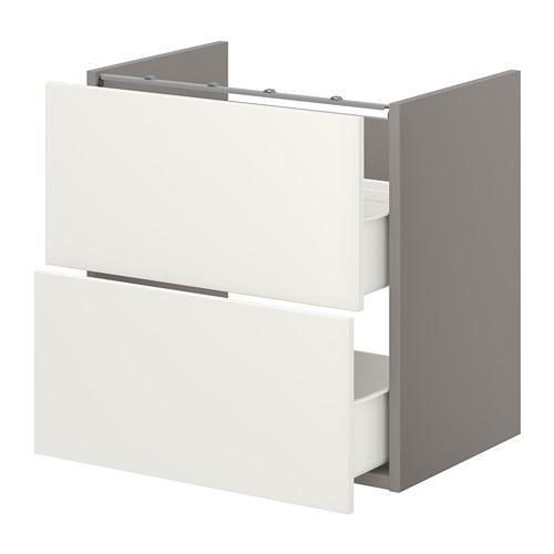 ENHET - 洗手盆用地櫃連2個抽屜, 灰色/白色 | IKEA 香港及澳門 - PE773188_S4
