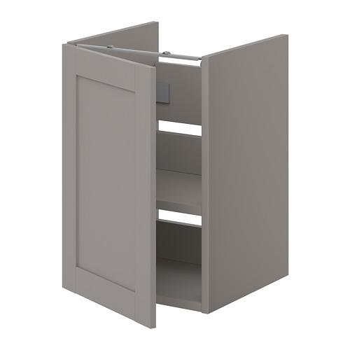 ENHET - 洗手盆用地櫃組合, 灰色/灰框   IKEA 香港及澳門 - PE773239_S4