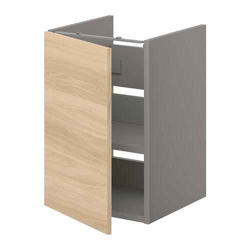 ENHET - bs cb f wb w shlf/door, grey/oak effect   IKEA Hong Kong and Macau - PE773213_S4
