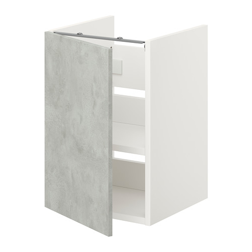 ENHET - 洗手盆用地櫃組合, 白色/仿混凝土   IKEA 香港及澳門 - PE773216_S4