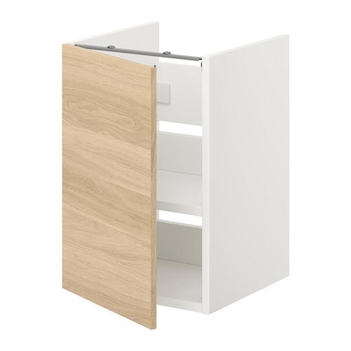 ENHET - 洗手盆用地櫃組合, 白色/橡木紋 | IKEA 香港及澳門 - PE773220_S4