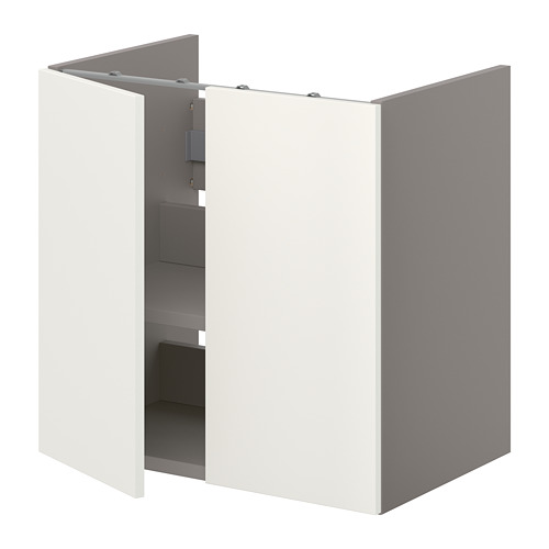 ENHET - 洗手盆用地櫃組合, 灰色/白色 | IKEA 香港及澳門 - PE773264_S4