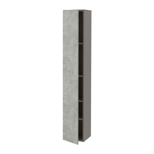 ENHET - 高櫃連4層板/門, 灰色/仿混凝土 | IKEA 香港及澳門 - PE773305_S4