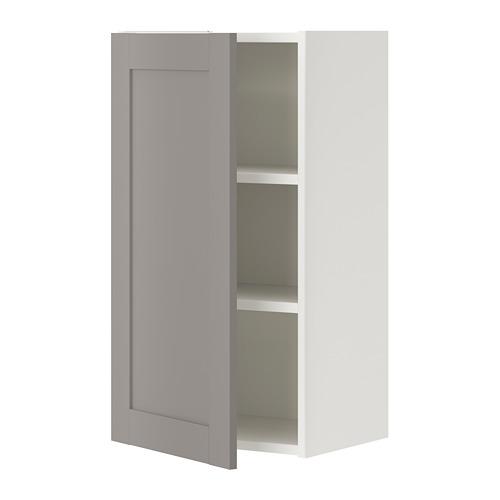 ENHET - 單門吊櫃連2層板, 白色/灰色 框架 | IKEA 香港及澳門 - PE773315_S4