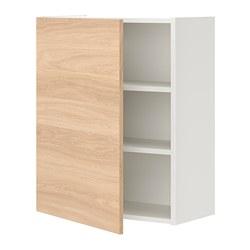 ENHET - 單門吊櫃連2層板, 白色/橡木紋   IKEA 香港及澳門 - PE773212_S3