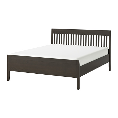 IDANÄS - bed frame, double, dark brown/Lönset | IKEA Hong Kong and Macau - PE784944_S4