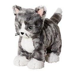 LILLEPLUTT - 毛公仔, 貓 灰色/白色 | IKEA 香港及澳門 - PE371748_S3