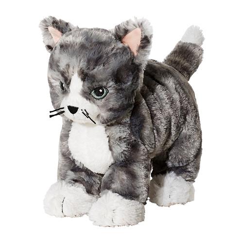 LILLEPLUTT - 毛公仔, 貓 灰色/白色 | IKEA 香港及澳門 - PE371748_S4