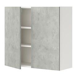 ENHET - wall cb w 2 shlvs/doors, white/concrete effect | IKEA Hong Kong and Macau - PE773225_S3